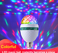 abordables -Lampe de projecteur magique colorée boule e27 lampe à LED ampoule de scène de lumière disco lumière de fête RVB à rotation automatique pour fête de famille ktv dj piste de danse
