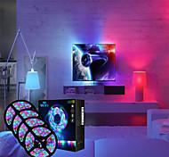 abordables -bandes lumineuses à LED ensembles de lumières rgb bandes lumineuses 4x5m 1620 leds 2835 smd 8mm 1 télécommande 24 touches 1x 1 à 4 connecteur de câble 1 câbles cc 1 jeu rgb noël nouvel an contrôle de