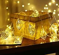 economico -luci della stringa della ghirlanda luci foglia d'oro 1.5m 10leds 3m 20leds luci natalizie led stringa alimentato a batteria luci fata soggiorno giardino matrimonio consegna decorativa senza batteria