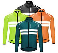 abordables -WOSAWE Homme Veste Velo Cyclisme Hiver Vélo Veste Coupe Vent Sommet Etanche Coupe Vent Respirable Des sports Noir / Orange / Vert VTT Vélo tout terrain Vélo Route Vêtement Tenue Tenues de Cyclisme