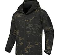 abordables -Homme Sweat à capuche Veste de Chasse Camouflage Veste tactique militaire Extérieur Chaud Coupe Vent Respirable Séchage rapide Automne Hiver Printemps camouflage Veste Hiver Manteau Sommet Toison