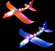 economico -2 pezzi lampeggiante luminoso aliante aereo 2 modalità di volo acrobatico superbo affascinante scintillante schiuma aereo può volare di notte, regali per bambini