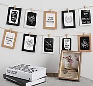 economico -1 set di 10 cornici per foto in carta da 5 pollici e pareti per foto