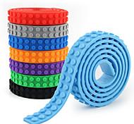 abordables -Accessoires compatibles de jouet de bande de caoutchouc souple de bloc de construction de particules 2 * 240