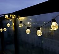 abordables -guirlande de mariage led 6m 20leds feston led globe fée ampoule extérieure guirlande étanche guirlande lumineuse de vacances de noël jardin patio décoration éclairage prise ue ac220v-240v