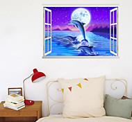abordables -3D ciel étoilé stickers muraux chambre escalier amovible pré-collé PVC décoration de la maison sticker mural 1 pc