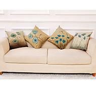 abordables -housse de coussin 4 pièces en lin décoratif carré housse de coussin taie de coussin taie d'oreiller pour canapé chambre 45 x 45 cm (18 x 18 pouces) qualité supérieure lavable en machine