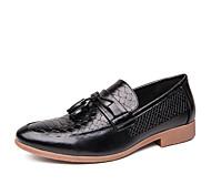 abordables -2020 petites chaussures en cuir décontractées pour hommes de style britannique, chaussures à la mode de styliste de cheveux pointus de style coréen rétro, chaussures pour hommes formels d'affaires