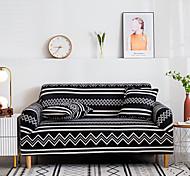 abordables -1 pc géométrique noir blanc lignes housse de canapé housse de canapé élastique au salon canapé pour animaux de compagnie housse de protection inclinable