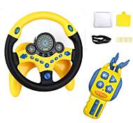 abordables -contrôleur de conduite simulé par jouet de volant avec clés de voiture jouet éducatif copilote pour enfants avec pilote de musique de lumières - vieux meilleur cadeau pour les enfants