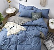 abordables -ensemble de lit quatre pièces dortoir étudiant couleur pure ensemble trois pièces literie automne et hiver ensemble 4 pièces de linge de lit et couette