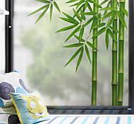abordables -motif de bambou vert mat film de fenêtre collant vinyle isolation thermique protection de la vie privée décor à la maison pour fenêtre armoire porte autocollant fenêtre autocollant - 60 * 58 cm