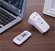 economico -433 mhz presa domestica intelligente prese di corrente wireless presa interruttore della luce presa elettrica britannica smart 16a con telecomando