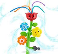 abordables -arroseur à jet d'eau extérieur pour enfants et tout-petits - arroseur de fleurs mignonne pour enfants avec des tubes ondulés - éclaboussures amusantes pour les jours d'été - se fixe au tuyau