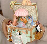 economico -Scatola musicale Cat 1 pcs Regalo Decorazioni per la casa Resina Per Per bambini Per adulto Ragazzi e ragazze