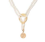 economico -gioielli transfrontalieri europei e americani collana di perle di metallo geometrica personalità femminile moda catena di maglione catena di clavicola selvaggia hzs215