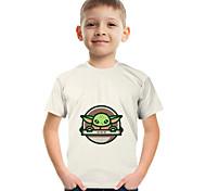 economico -Bambino Da ragazzo maglietta T-shirt Manica corta Anime Pop art Di base Unisex Arcobaleno Bambini Top Estate Di tendenza Moda città stile sveglio 3-12 anni