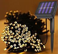 economico -luce solare esterna 12m 100leds luce solare stringa impermeabile led luce fata stringa giardino esterno matrimonio decorazione natalizia vacanza led luce solare da giardino