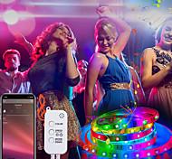 abordables -bande led étanche 20m rgb lumière led synchronisation de la musique 1200leds bande led 2835 smd à changement de couleur led bande de contrôle bluetooth et 40 touches lumières led à distance pour la