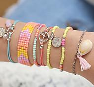 abordables -Bracelet de perles Femme Perles arbre de la vie Bohème Bracelet Bijoux Couleur de l'image pour Rendez-vous Festival