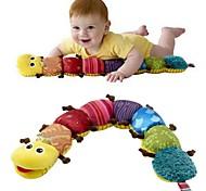 abordables -60cm jouets en peluche doux pour enfants couleur café pieds chenilles musique insectes jouets en peluche avec papier de sonnerie pour bébé 1 pc