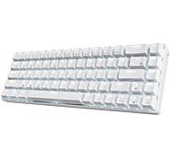abordables -rk68 clavier mécanique sans fil bluetooth gaming gateron blue commutateurs 65% compact 18 effets de lumière diversifiés 3 logiciels de touches macro embarquées diy-royal kludge