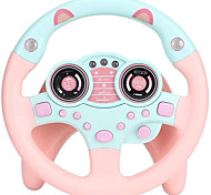 economico -volante giocattolo con luci musicali, auto simulato guida per i più piccoli portabl fingi di giocare ad adsorbimento giocattolo ruota motrice per bambini ragazzi e ragazze