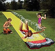 economico -scivoli e scivoli per bambini cortile, giochi per bambini giardino estivo prato acquascivolo giochi d'acqua all'aperto con spruzzatore a spruzzo giallo