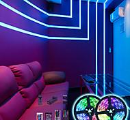 economico -strisce led impermeabili controller nascosto bluetooth 5m fai da te cambia colore 5050 rgb 300leds striscia luminosa kkit con telecomando e controller nascosto facile installazione per tv bbacklight