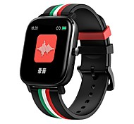 abordables -696 MT2 Unisexe Bracelets Intelligents Bluetooth Ecran Tactile Moniteur de Fréquence Cardiaque Mesure de la pression sanguine Mode Mains-Libres Santé Chronomètre Podomètre Rappel d'Appel Moniteur de