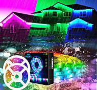 economico -luci di striscia a led wifi app sincronizzazione musicale controllata 2x7.5m luci di striscia rgb che cambiano colore 50ft con microfono incorporato sensibile al telecomando a 24 tasti 5050 kit luce