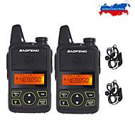 abordables -2 pcs / lot Baofeng T1 Mini Radio bidirectionnelle BF-T1 Talkie-walkie UHF 400-470 MHz 20CH Portable Ham FM CB Radio Émetteur-récepteur de poche