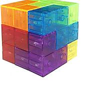 abordables -Yongjun Magic Magnetic Building Block - Carreaux magnétiques éducatifs pour enfants cubes de puzzle jouet anti-stress pour développer l'intelligence idéale pour les cadeaux d'anniversaire (cristal)