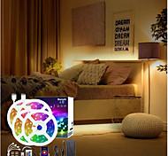 abordables -bandes led bluetooth dimmable 20m (4x5m) rgb tiktok lumières 5050600 leds contrôlées par smartphone pour les vacances à la maison