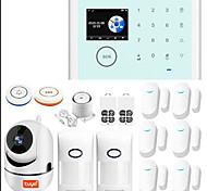 economico -angus tuya 2.4 pollici 433 mhz wifi gsm sistema di allarme di sicurezza domestica compatibile con alexa antifurto senza fili rilevatore di controllo app