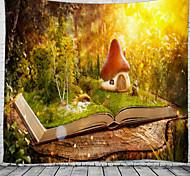 abordables -champignon maison sur le livre tapisserie murale art décor couverture rideau suspendu maison chambre salon décoration belle vue depuis la fenêtre