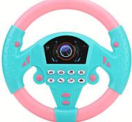 abordables -contrôleur de conduite simulé 21 * 3.5 * 21cm co-pilote simulé volant jouet musical éducatif pour enfants enfants 4 5 6 ans (bleu rose)