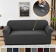 abordables -Nordic simple couleur unie épaisse housse de canapé élastique simple double combinaison de trois personnes housse de canapé tissu extensible