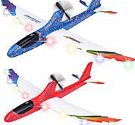 economico -Confezione da 2 giocattoli per aeroplani elettrici, aereo da lancio ricaricabile a 2 modalità di volo, giocattoli esterni, aeroplano aliante per l'educazione della schiuma per ragazzi adulti, gioco