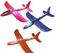 economico -Confezione da 3 aeroplani giganti per bambini, grande aereo in gommapiuma da 18,9 pollici, aliante con modalità di volo illuminata a led, giocattolo volante per bambini piccoli, regali per bambine di
