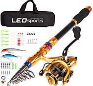 abordables -Kit de pêche Tige télescopique 180/210/240/270/300/360 cm Carbone Téléscopique Pêche en mer Pêche aux spinnerbaits