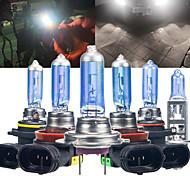 abordables -2pcs 100W ampoules halogènes de voiture H1 H7 H8 H11 9005 HB3 9006 HB4 LED Lampe de phare antibrouillard automatique 12V Blanc 6000K Super lumineux