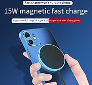 economico -15 W Potenza di uscita Pad di ricarica wireless Caricatore senza fili Portatile Zero Per Cellulari Apple iPhone 12 11 pro SE X XS XR 8 Samsung Glaxy S21 Ultra S20 Plus S10 Note20 10