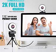 economico -webcam mini webcam per computer laptop con microfono ad anello luce video webcam 1080p 2k trasmissione in diretta messa a fuoco automatica web cam versione 2k