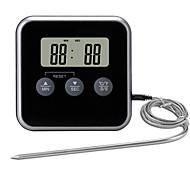 abordables -TS-BN56 Portable / Elégant Thermomètre BBQ 0 avec alerte, Écran LCD rétro-éclairé, Mesure numérique de la température