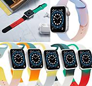 economico -Cinturino intelligente per Apple  iWatch 1 pcs Cinturino sportivo Bracciale stampato Silicone Sostituzione Custodia con cinturino a strappo per Apple Watch Serie SE / 6/5/4/3/2/1