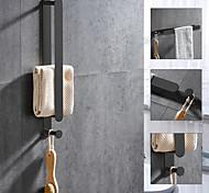 economico -portasciugamani e portasciugamani con ganci nuovo design portasciugamani da bagno in acciaio inox a parete finiture verniciate 1pz