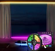 abordables -bande de lumières led contrôle d'application dimmable étanche 10m 32.8ft 24v gradation intelligente flexible 5050 rgb smd 300 leds ir contrôleur à 24 touches avec kit d'installation dc24v