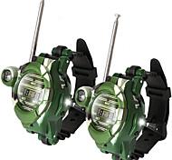 abordables -talkie-walkie pour enfants radio bidirectionnelle montres talky-walkie avec lampe de poche enfants jeu de plein air interphone jeu de jouets et cadeaux pour garçon et fille - (pack de 2)