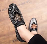 abordables -chaussures pour hommes été 2019 nouvelles chaussures de pois sauvages britanniques version coréenne de la tendance d'une pédale paresseux respirant petites chaussures en cuir
